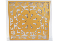 Artistic Aluminum Wall Panel / Custom Art Flowers Carved Decoration Ceiling tiles