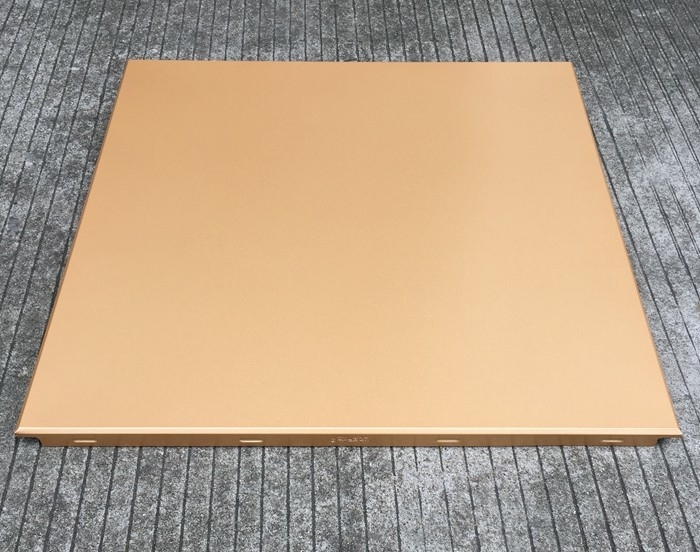 Gold Color Aluminum Clip in False Ceiling Tiles / 600x600mm Metal Ceiling Panel
