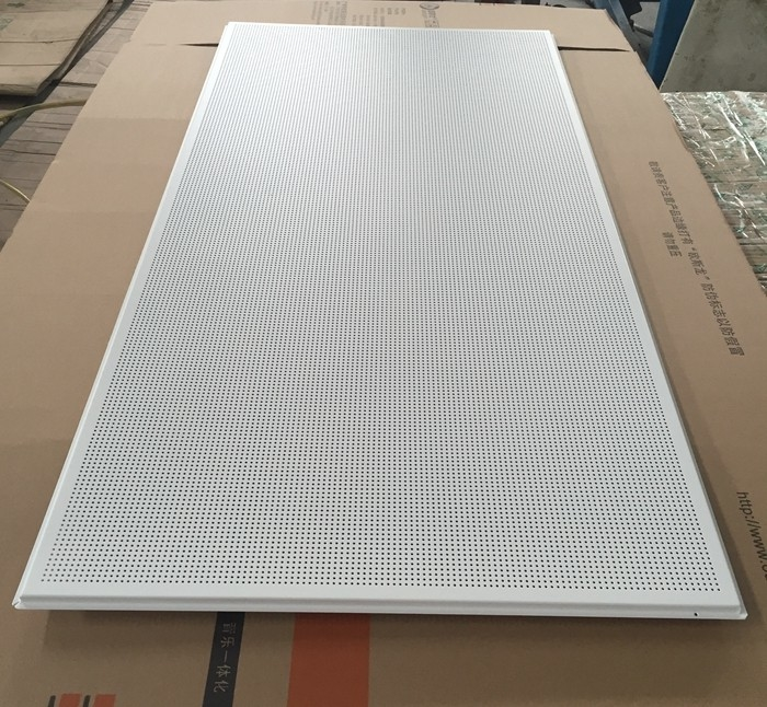 595x1195mm Galvanized Steel Acoustic Ceiling Tiles For Shopping Malls