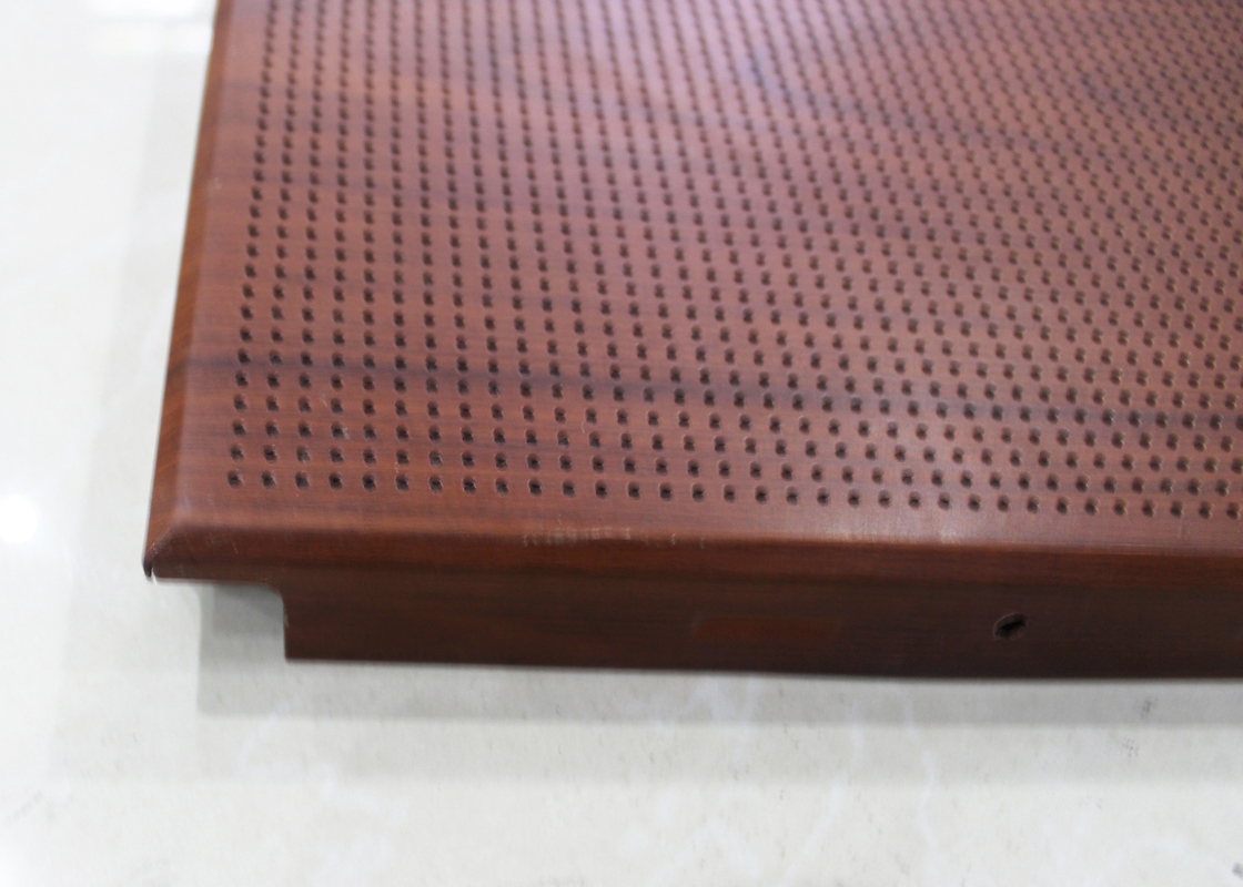 Architectural Drop Acoustic Ceiling Tiles Perforated Metal false ceiling With Powder coating