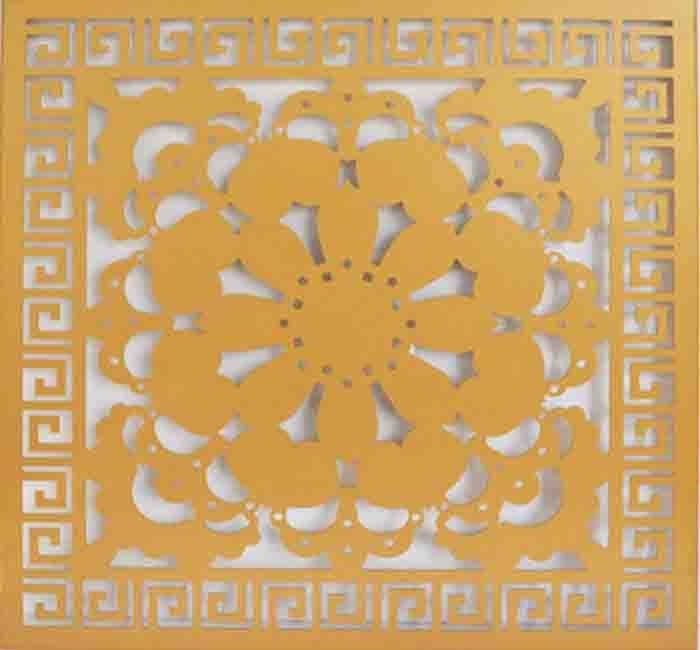 Art Flower Aluminum Wall Panel CNC Carved Exterior PVDF Coating